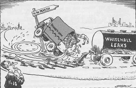 Cartoon of Employment's Secretary's plan to move servicemen north (YPM 2.1)
